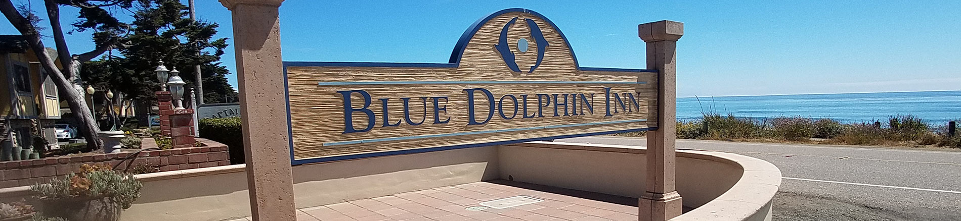 Blue Dolphin Inn sign