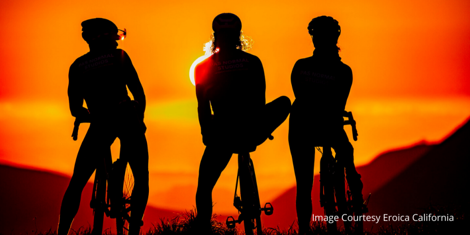sunset bike riders